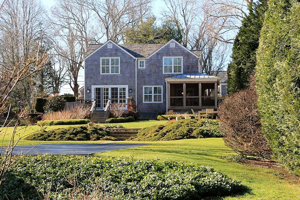 Renovation to expand shingle style cottage.